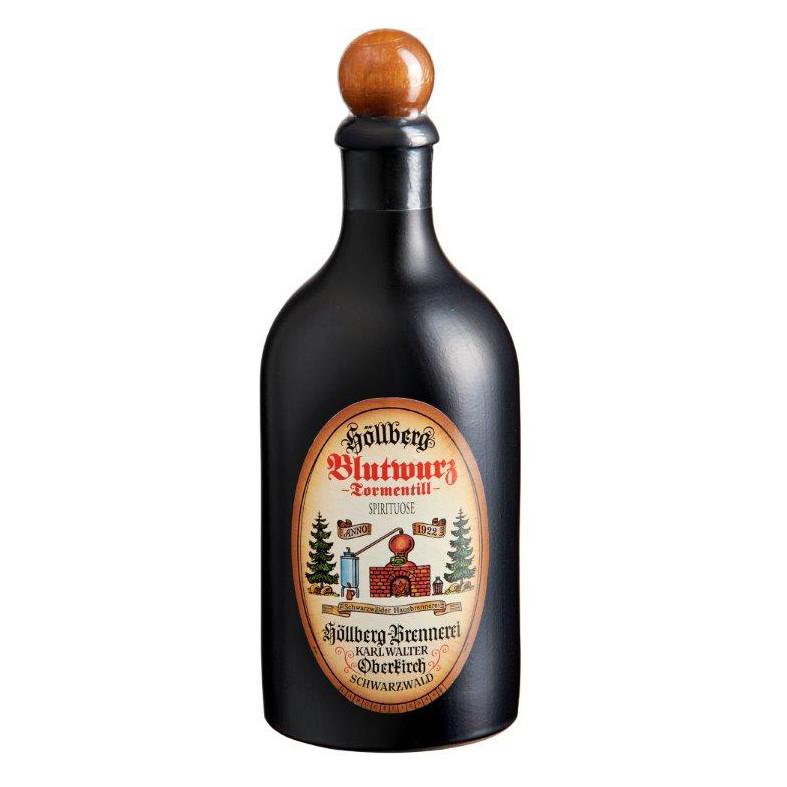 0,5 Liter Tonflasche Blutwurz von Höllberg mit einem Alkohlgehalt von 40%
