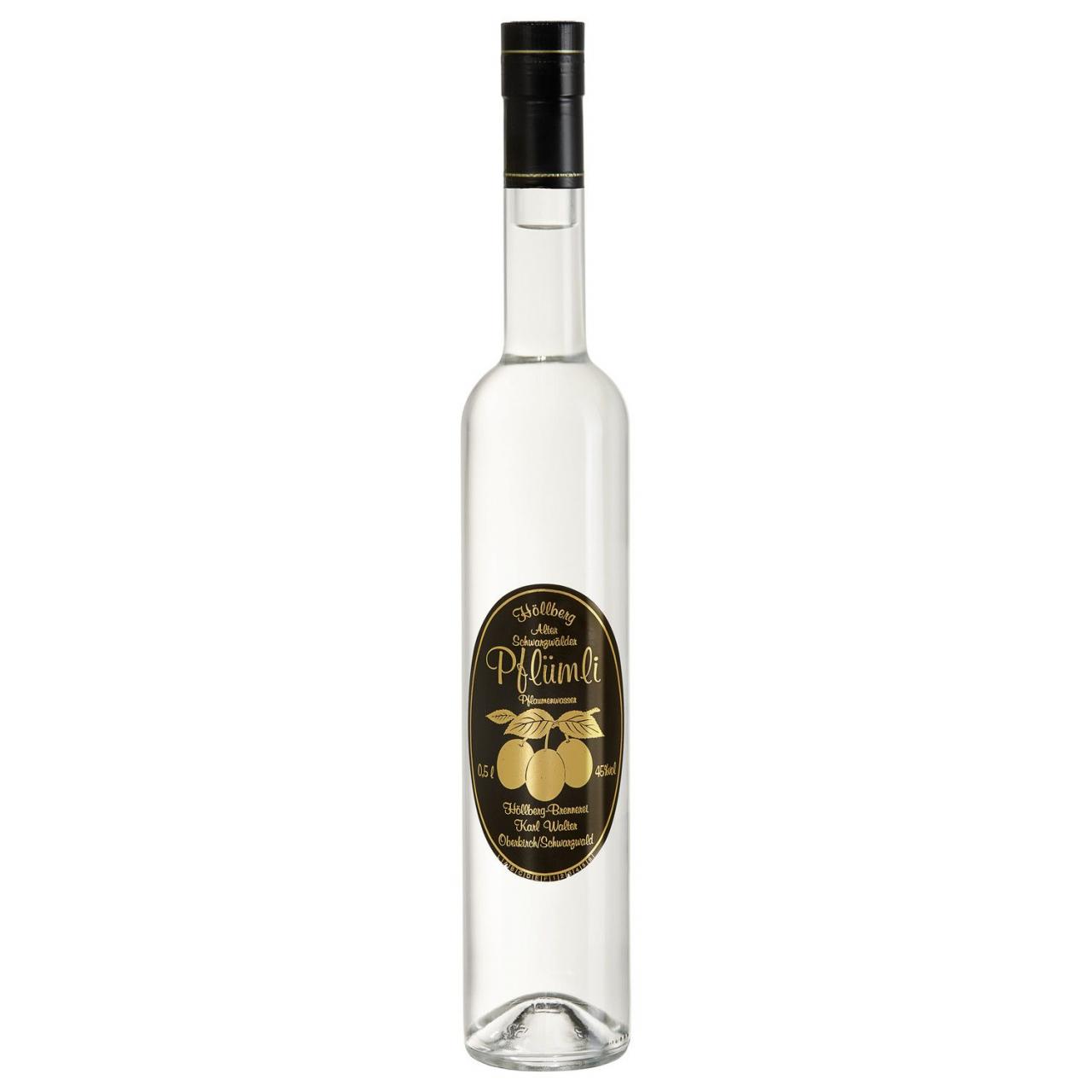 0,5 Liter Flasche Höllberg Pflümliwasser