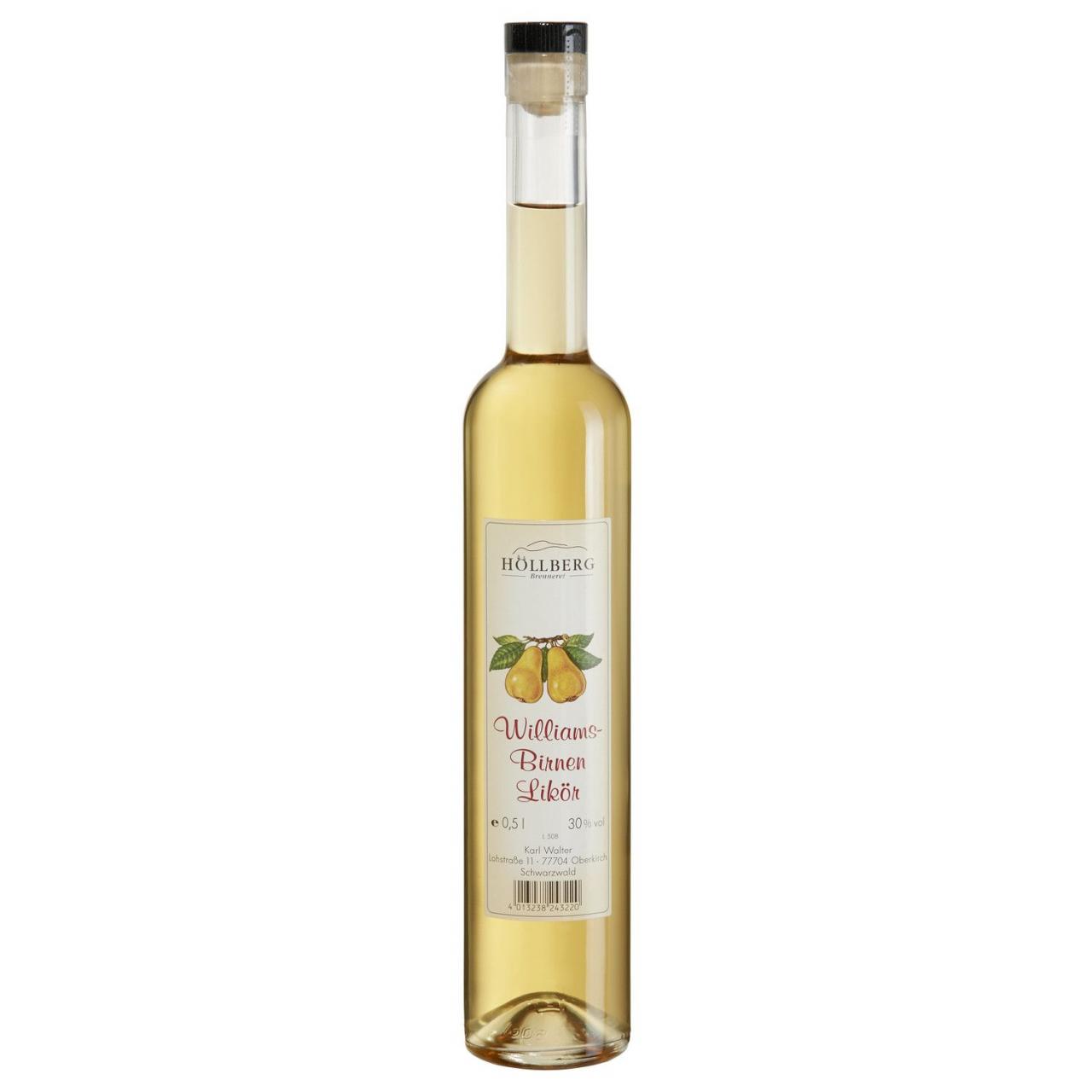 0,5 Liter Flasche Höllberg Williams-Birne-Likör