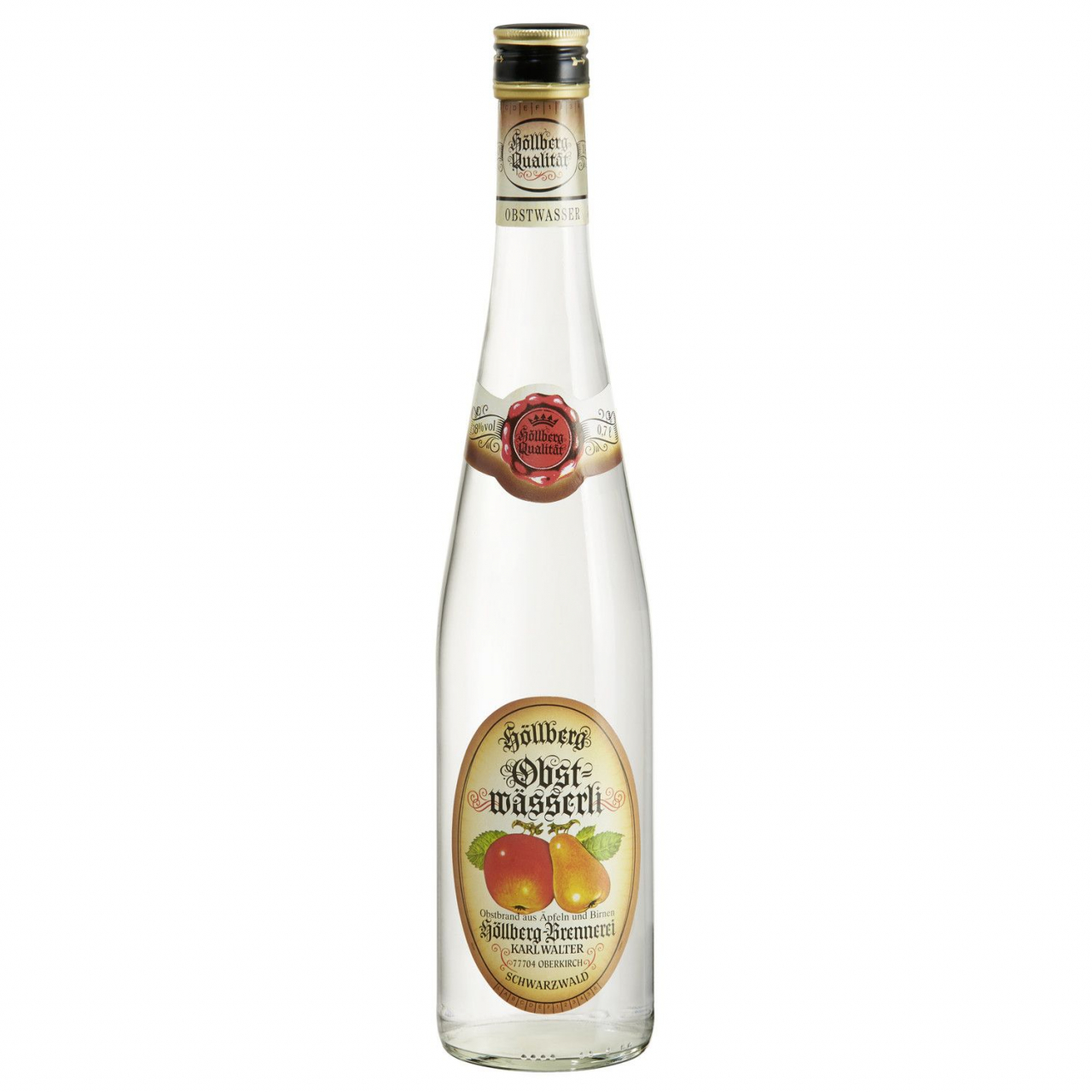 0,7 Liter Flasche Höllberg Obstwasser
