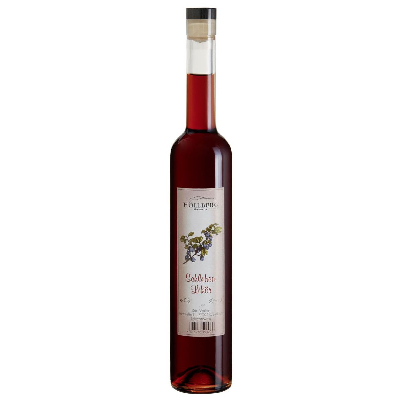 0,5 Liter Flasche Höllberg Schlehen-Likör