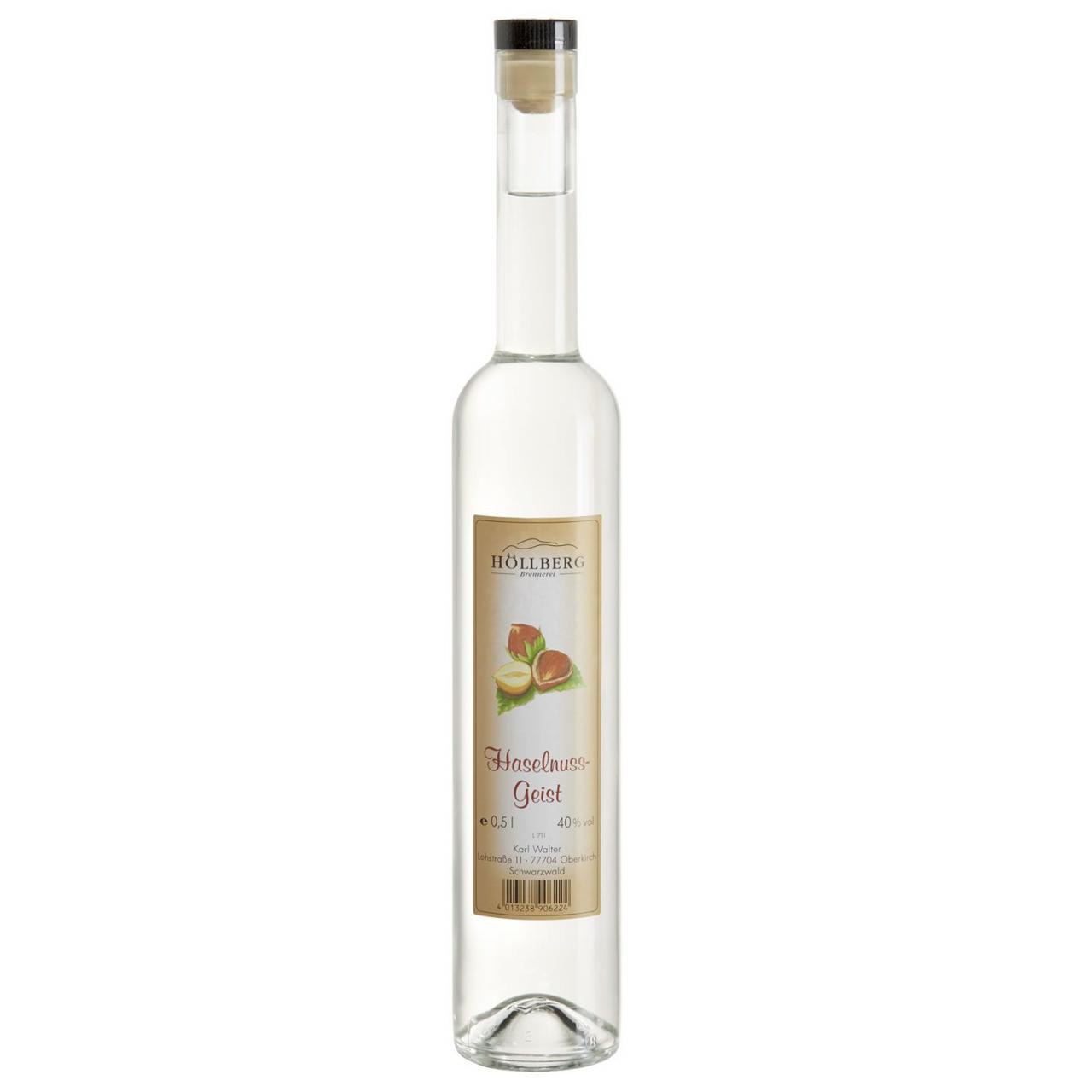 0,5 Liter Flasche Höllberg Haselnussgeist