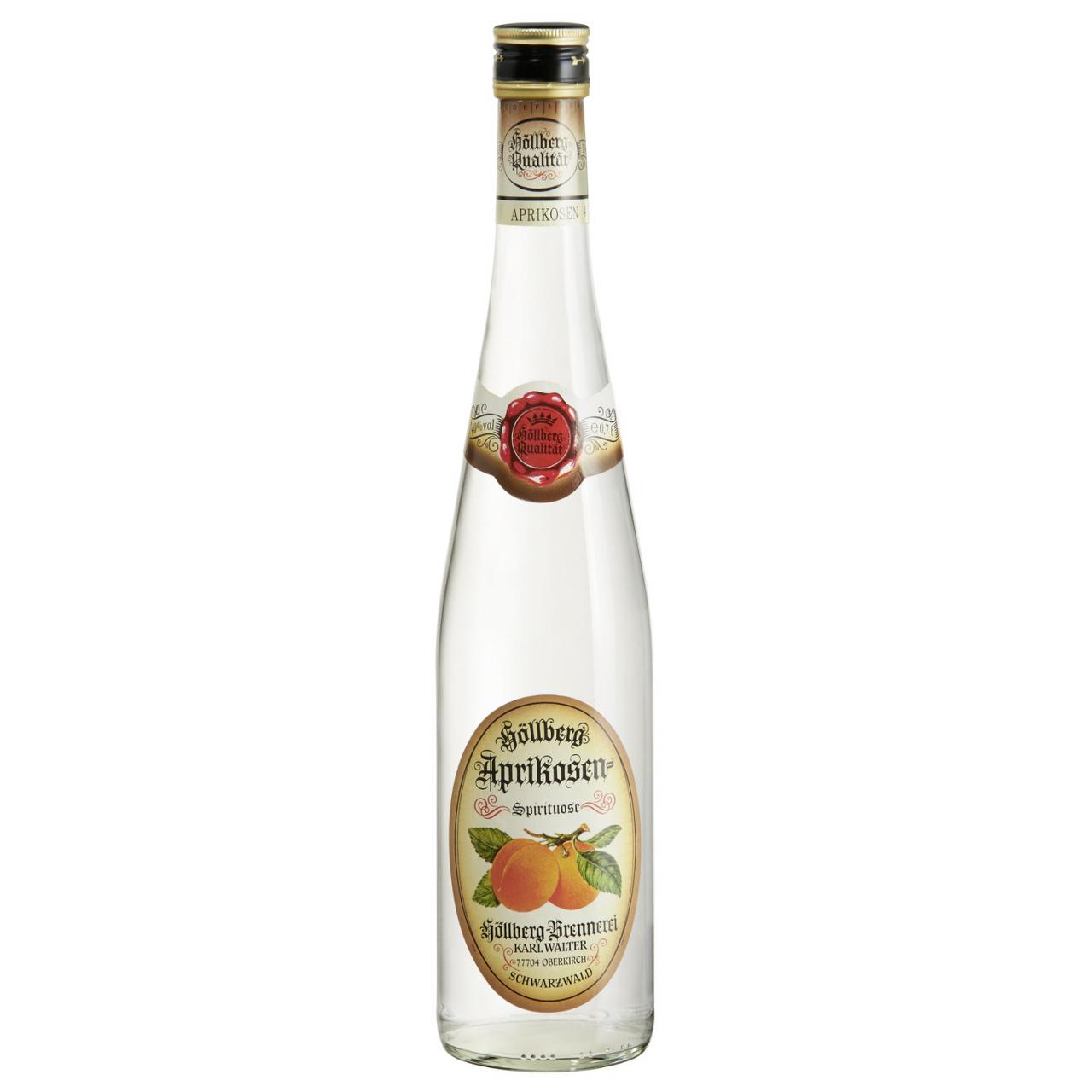 0,7 Liter Flasche Höllberg Aprikose mit 40% vol. Alkoholgehalt