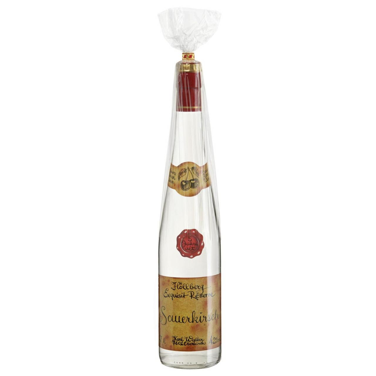 0,7 Liter Flasche Höllberg Exquisit Réserve Sauer Kirsch