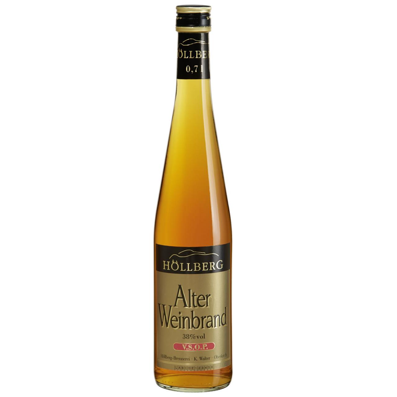 0,7 Liter Flasche Höllberg Weinbrand