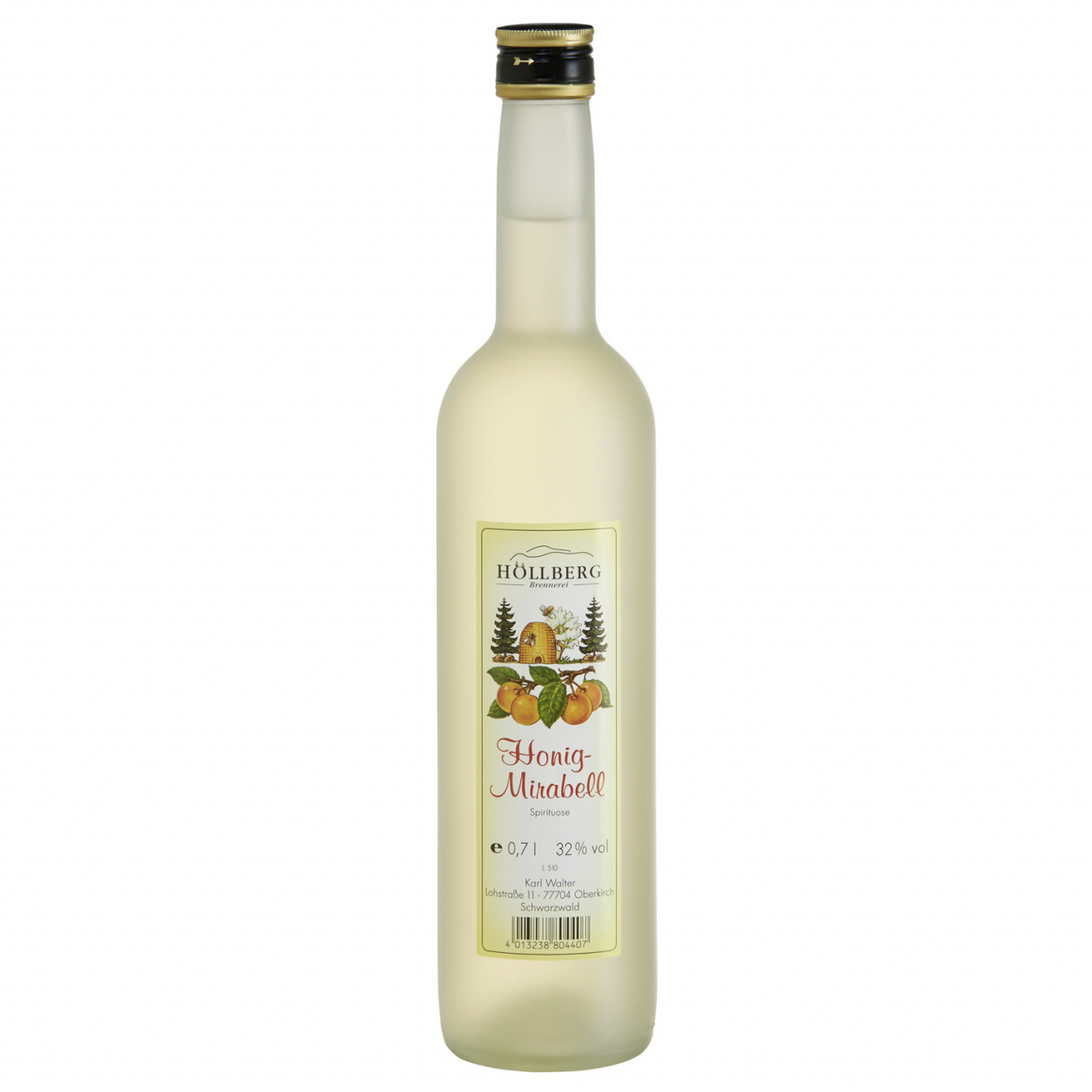 0,7 Liter Flasche Höllberg Hing Mirabelle