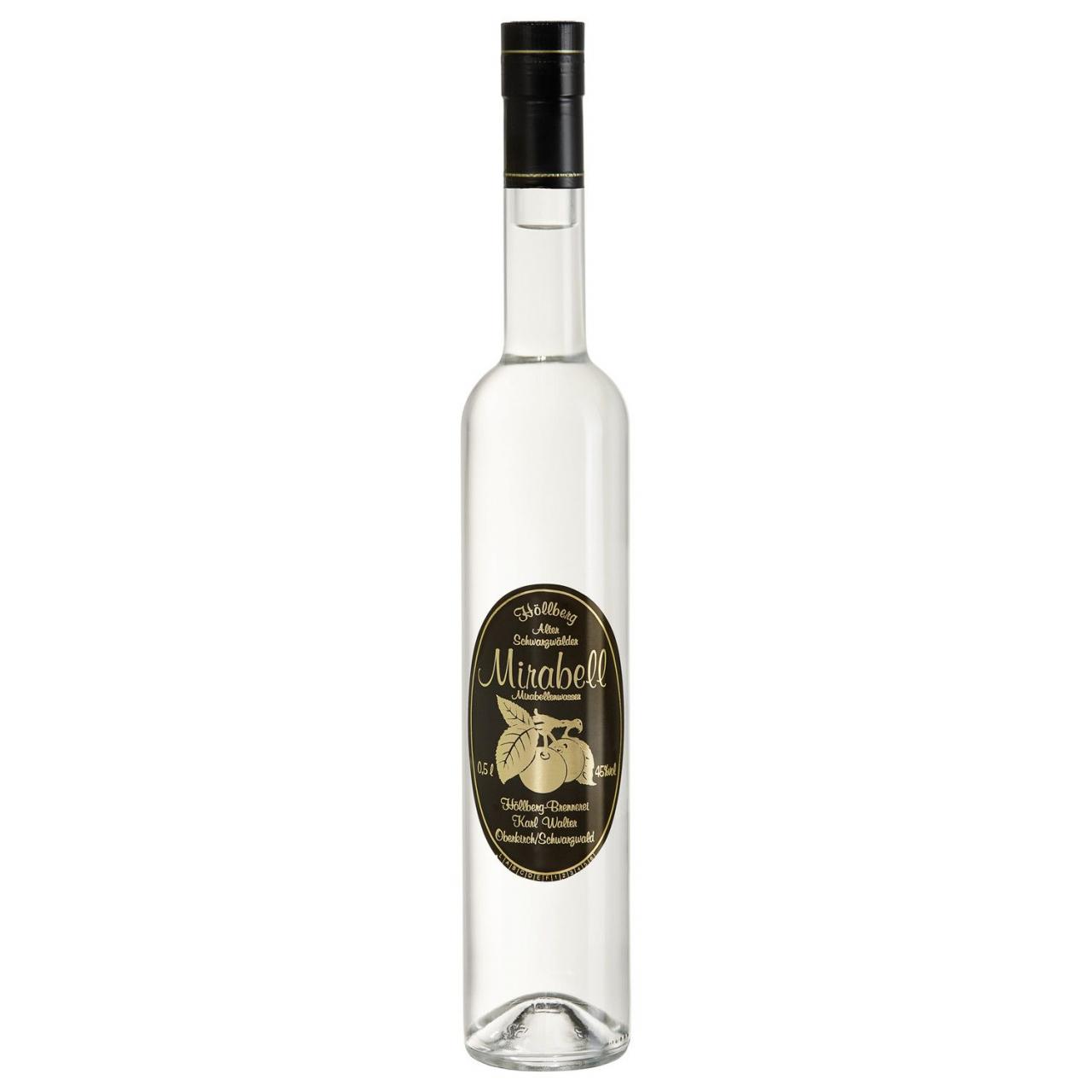 0,5 Liter Flasche Höllberg Mirabellengeist mit 45% vol.