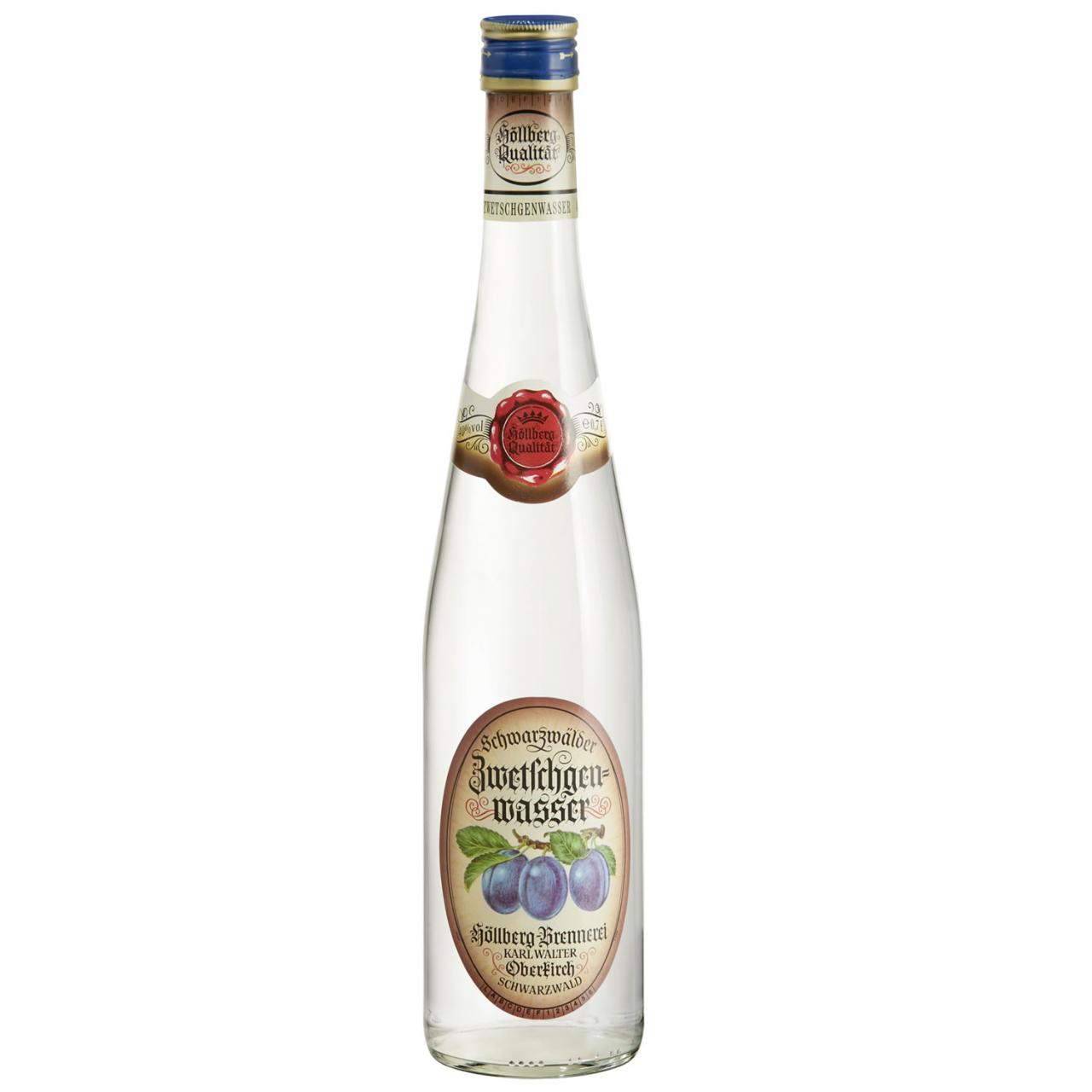 0,7 Liter Flasche Höllberg zwetschgenwasser