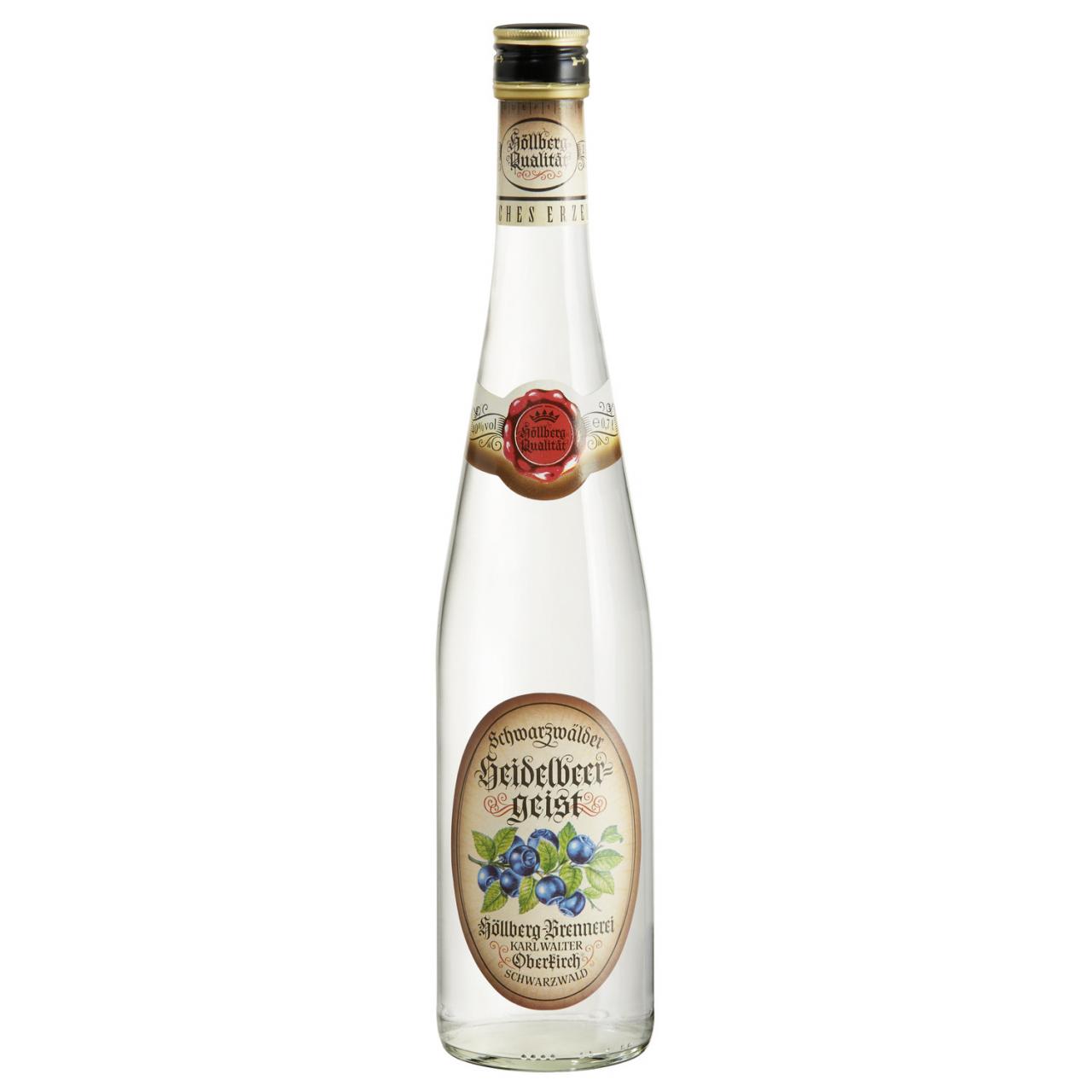 0,7 Liter Flasche Höllberg Heidelbeergeist